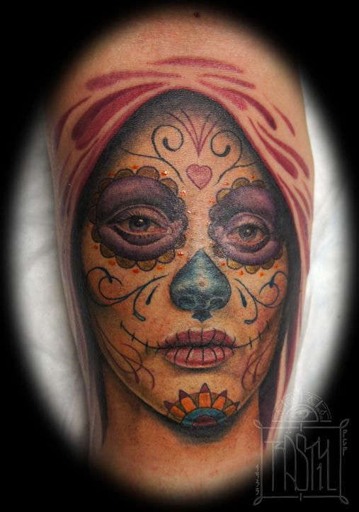 Dia de los Muertos girl by Rasty  1933 Classic Tattoos #tattooaddict #tattoosupplier