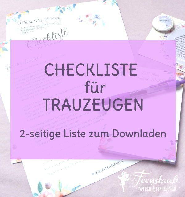 Trauzeugen Und Ihre Aufgaben Pdf Checkliste Zum Downloaden Trauzeuge Hochzeit Trauzeuge Trauzeugin Planer