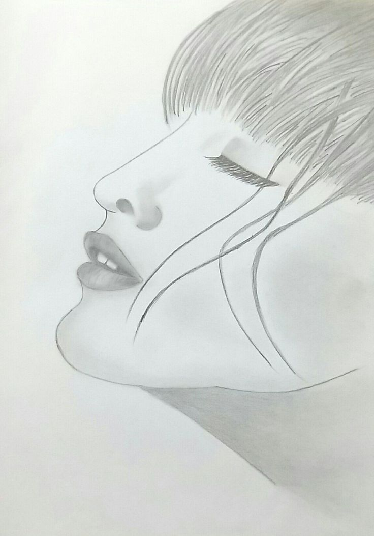 Woman's face pencil drawing