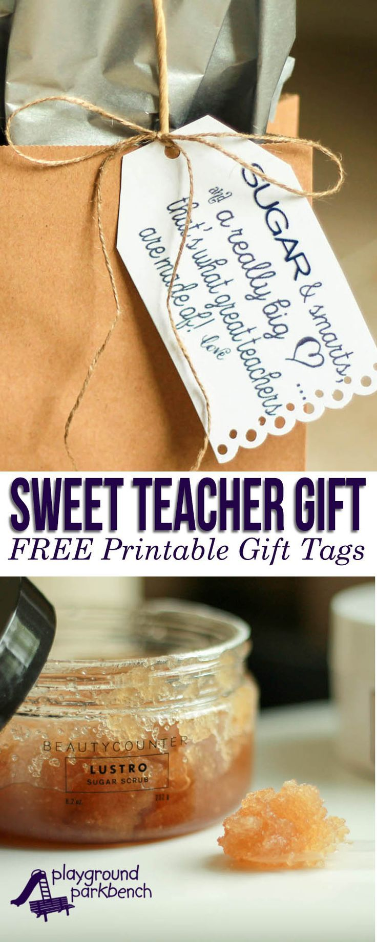 Let your teacher know how much you appreciate the impact they have made in your child's life and learning. A sweet teacher gift for the end of the school year or teacher appreciation week! | Gift Ideas | Teacher Gift | Beautycounter | Printables