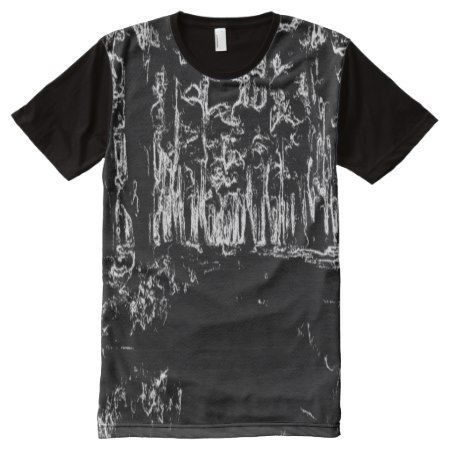 black and white forest drawing All-Over-Print shirt - click to get yours right now!