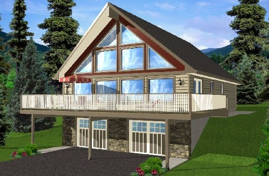 A frame home dream homes pinterest house plans for A frame house plans with garage