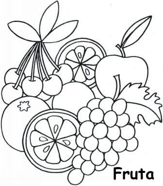frutas y verduras para colorear - Buscar con Google | dibujos para ...