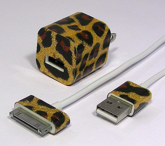 Leopard Glitter Phone Charger -- Curated by: ProWireless Ltd | 105-1110 Harvey Ave, Kelowna, BC V1Y 6E7 | 2504696700