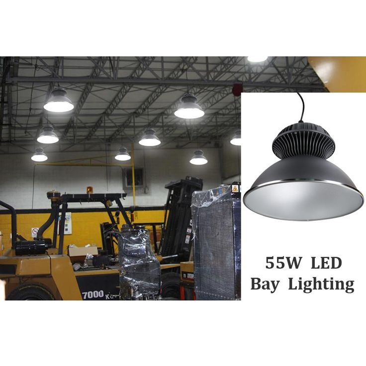 55w led high bay lighting fixture 4800lm 6000k daylight white fresh light 150w hps mh equiv waterproof 55w high bay warehouse lighting