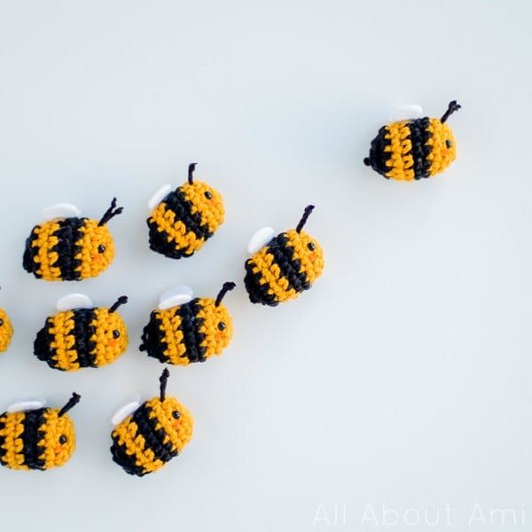 DIY: amigurumi bees #Crochet #FreePattern