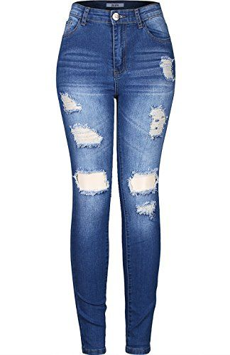 Special Offer: $8.70 amazon.com Our Stretchy 5 Pocket High Waisted Skinny Jeans are very versatile and can easily be dressed up or down. These cute and trendy jeans feature a semi-stretch fabric, traditional five-pocket construction, front zipper & button closure, super slim fit, and...