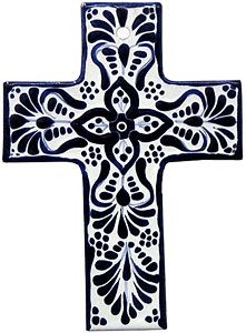 The cross is the universal symbol of Christianity. This Talavera cross is…