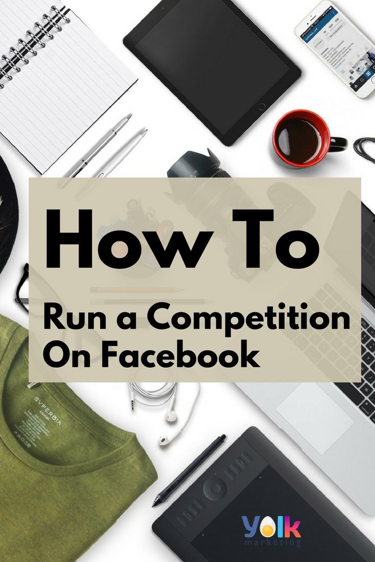 How to run a competition on Facebook. Click the image for FREE competition templates.