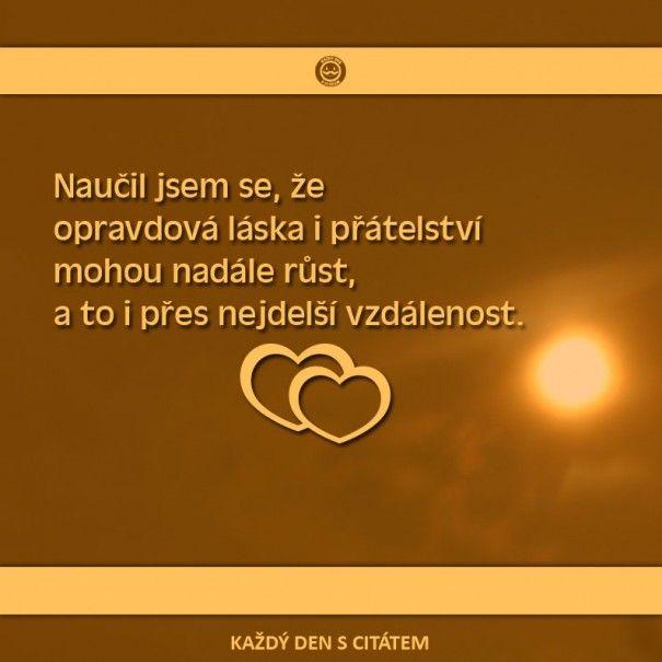 citáty - Naučil jsem se, že opravdová láska