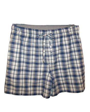 Blue Grey Check Sleep Short