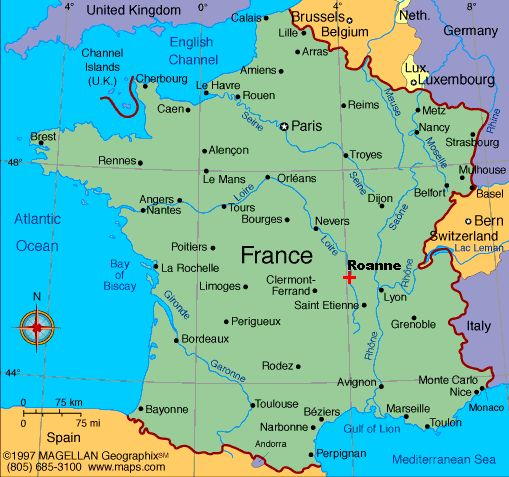 map of french cities | French towns. It's fun, you just have to try to place them on the map ...
