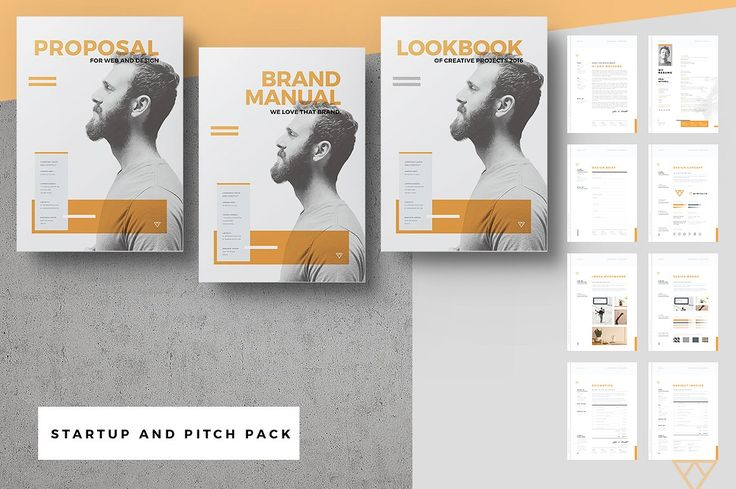 This startup proposal pitch pack consists of 18 Adobe Indesign templates to cover your client interactions from introduction (portfolio lookbook, covering letter and resume), to pitching (briefing, proposals and quotation / estimates), to design (mood and concept design sheets) and finally through to billing (invoice). Also you will get a brand manual that will help you to setup a super brand and corporate identity.