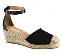 Sandália espadrille em couro nobuck | Sandálias | Bottero Calçados