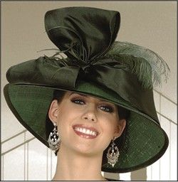 Olive green hat with giant bow. #millinery #judithm #hats