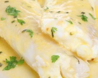Filets de colin et crème légère au citron Plus
