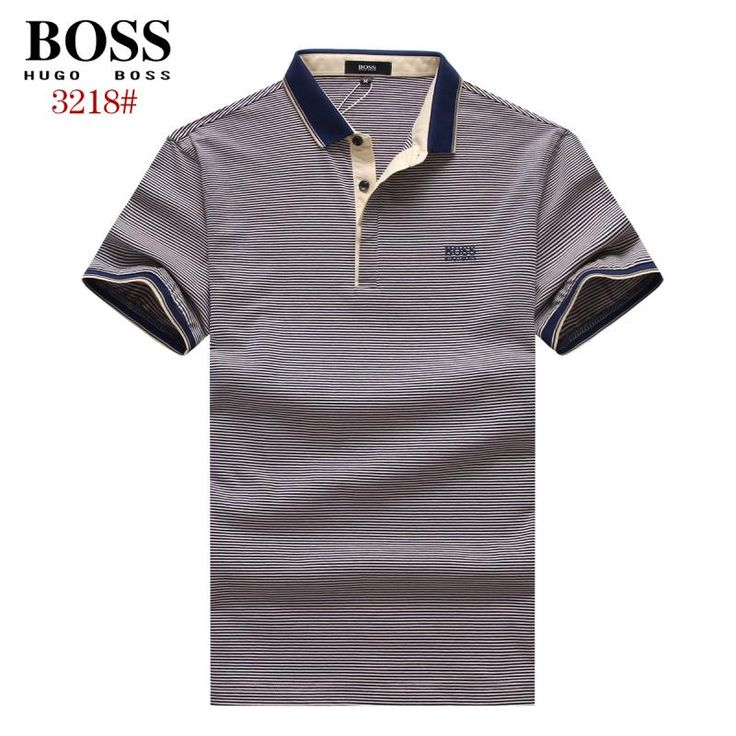 Hugo Boss polos t-shirts, short sleeve 100% cotton tops, brand shop #BOSTSH-700