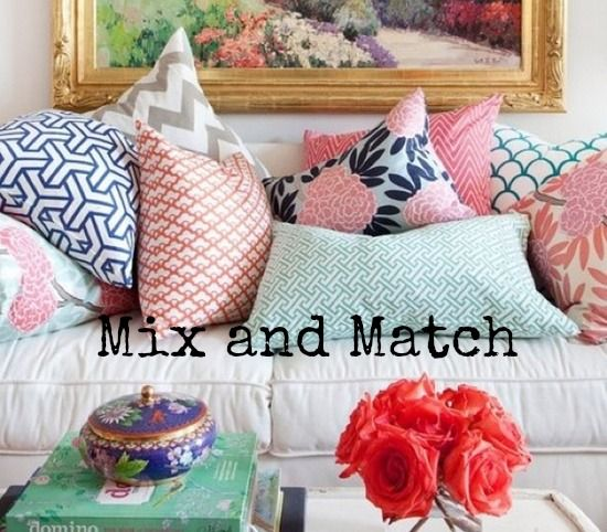 Mix and match throw pillows for your sofa choose a color - Living room curtains with matching pillows ...