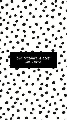Black white confetti spots dots Designed Life iphone wallpaper background phone lock screen