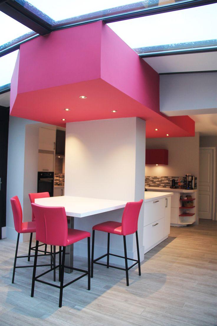 17 meilleures id es propos de plafond rose sur pinterest - Faux plafond cuisine ouverte ...