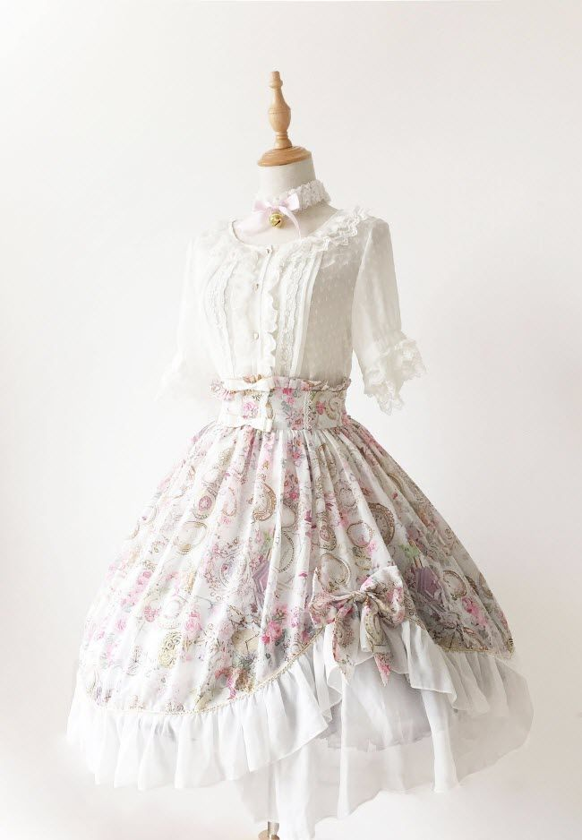 --> #LolitaUpdate: Neverland Lolita [-⌚♥-Antique Clock-♥⌚-] Series --> [-✂-Customizable-✂-]: http://www.my-lolita-dress.com/neverland-lolita-antique-clock-sweet-lolita-normal-waist-skirt