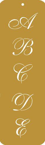Script monogram cookie stencil