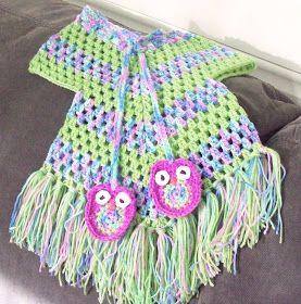 Cats-Rockin-Crochet Fibre Artist.: Cute Little Stay On Poncho ...