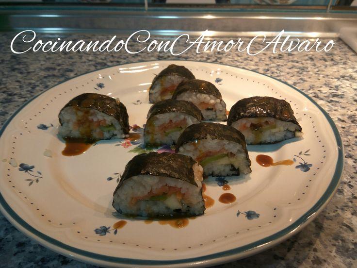 Hoy me decidí a preparar una gran receta de la cocina japonesa, sushi 🍣. Hay varios tipos, yo hice el llamado Maki, es el que se hace con alga de la marca Blue Dragón es una de la mejores. Éste es …