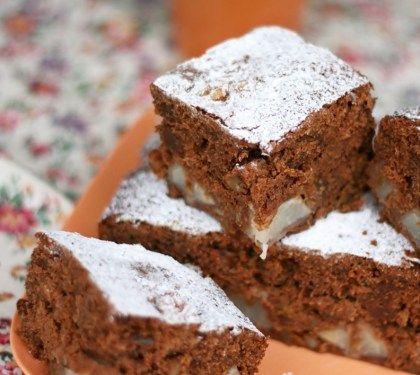 Torta pere cioccolato e noci by Cortilia