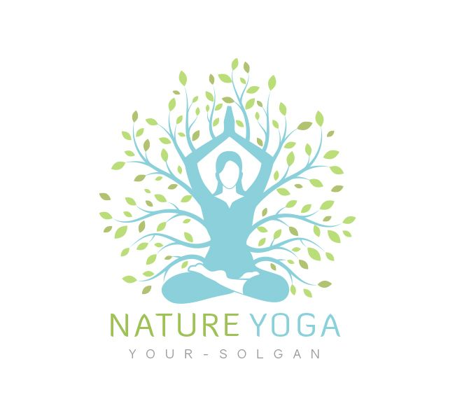 Nature Yoga Logo Business Card Template Yoga Logo Business Card Logo Card Template