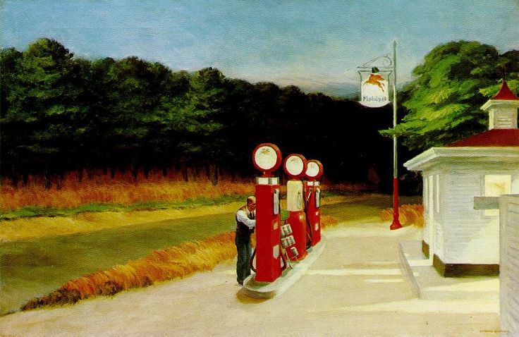"Edward Hopper, ""Gas"", 1940, oil on canvas"