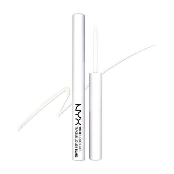 NYX White liquid liner white 15g ($7.78) ❤ liked on Polyvore featuring beauty products, makeup, eye makeup, eyeliner, liquid eyeliner, nyx, liquid eye liner, liquid eye-liner and nyx eyeliner