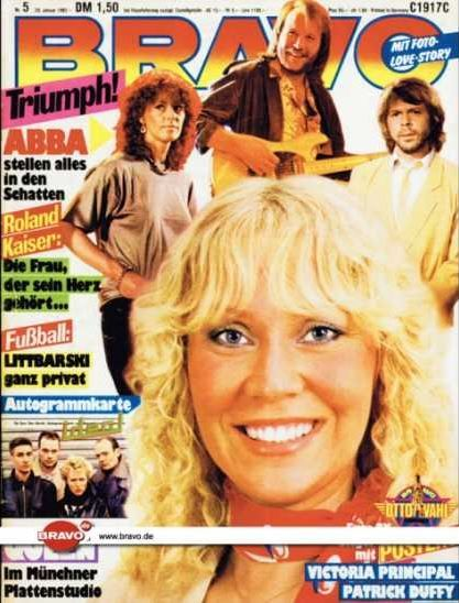 ABBA 1981 (Titelbild BRAVO Nr. 5)