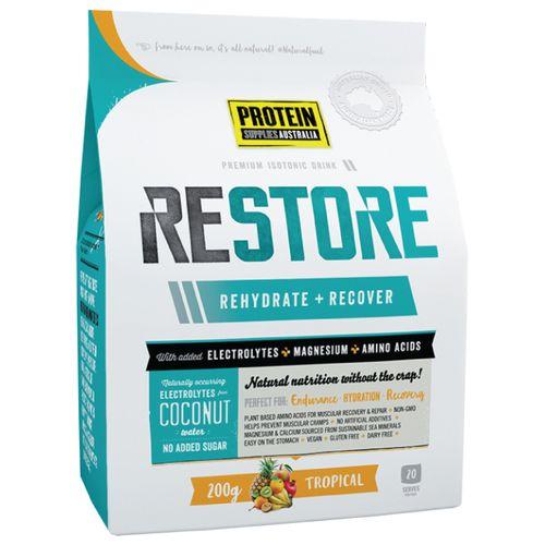 PSA Restore Blood Orange. #wellshaped #stellar #proteinsuppliesaustralia #psa #protein #wpi #health #fitness #natural #restore #rehydrate #recover #recovery #bendigo
