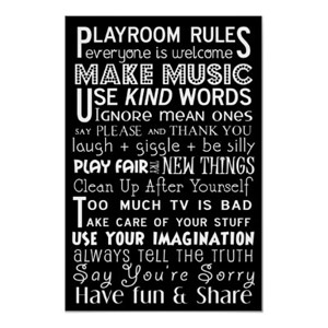 playroom rulesPlayrooms Ideas, Playrooms Rules, Kids Playrooms, Subway Art, Life Lessons, Kids Room, Playrooms Signs, Art Posters, Plays Room