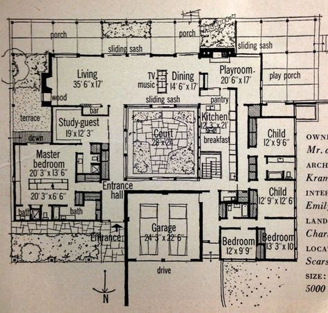 2683 best images about floor plan fanatic on pinterest for Apartment plans with courtyard