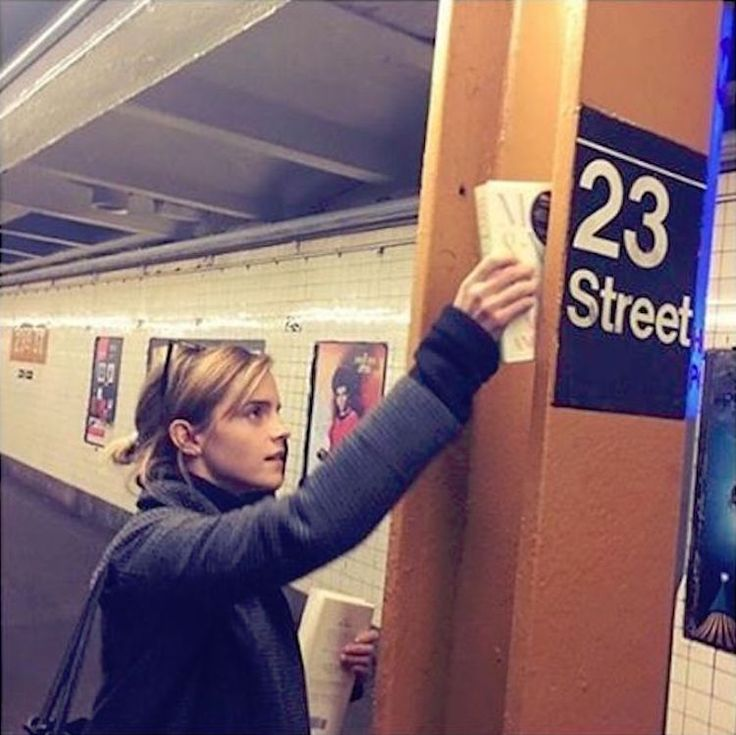 Emma Watson Hides Inspirational Books in the NYC Subway After Trump's Victory - My Modern Met