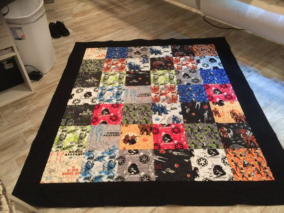 Full size quilt Star Warrs Rogue by Camelot by AntiqueThreadQuilts