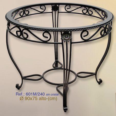 Mesa de forja circular de 90cm de diámetro. #mesa, #forja, #hierro, #forjado, #decoracion, #rustica, #comedor