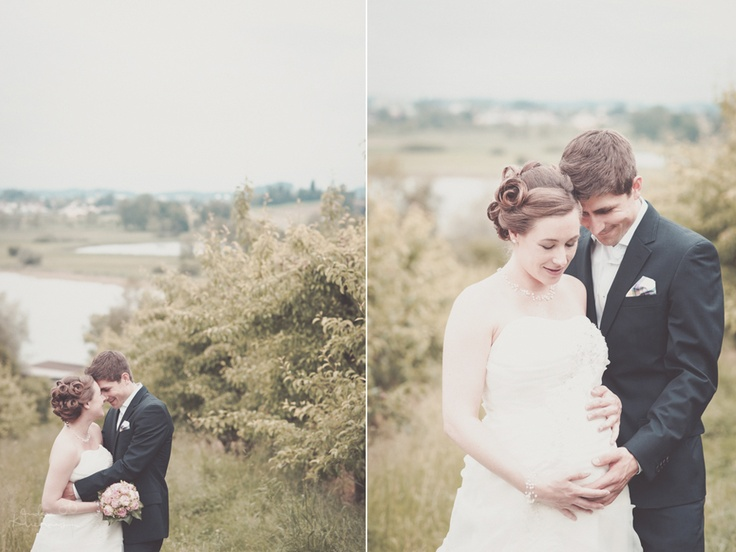 pregnant bride, lovely lakeside location Jucker Farmart Switzerland