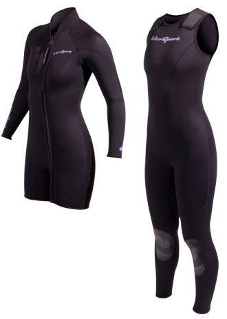 3mm Women's NeoSport 2pc Jane & Jacket SCUBA Wetsuit Combo