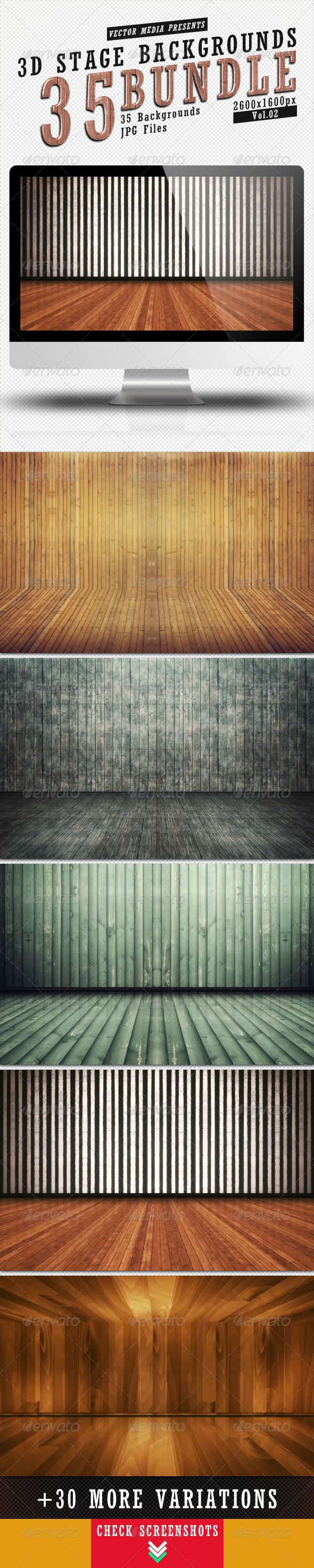 3D Stage Backgrounds - Bundle Vol.2
