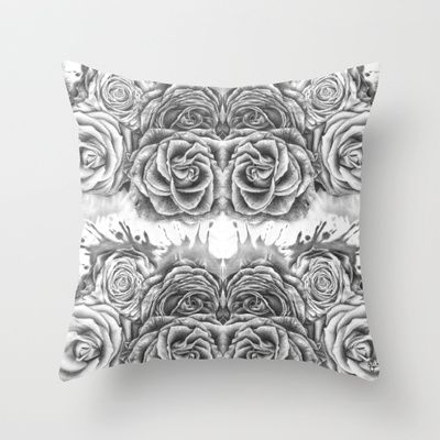 ROSES Throw Pillow by Roxanne Jade Dentry - $20.00