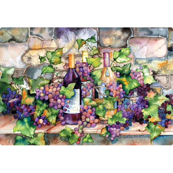 "7.5"" x 11"" Wine Cellar Design Cutting Board"
