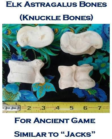Elk Knuckle Bones Astragalus/Tarsus/Talus (Set of 4 for Ancient Gambling Game). Found/Clean Wild Animal Bones from mountains of NM