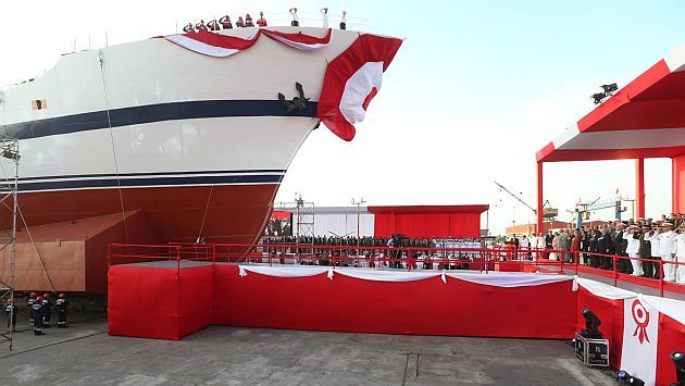 Ollanta Humala participó en lanzamiento a mar de buque escuela a vela Unión #Peru21