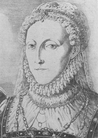 """I may prefer Henry VIII but many of you love Queen Elizabeth I. Have you ever seen this image of her? """"Queen Elizabeth 1"""" Engraving by Remigius Hogenberg. c.1570, Private Collection.Queen Elizabeth's Wardrobe Unlock'd, plate 11, pg. 15. The ruff is trimmed with pearls."""