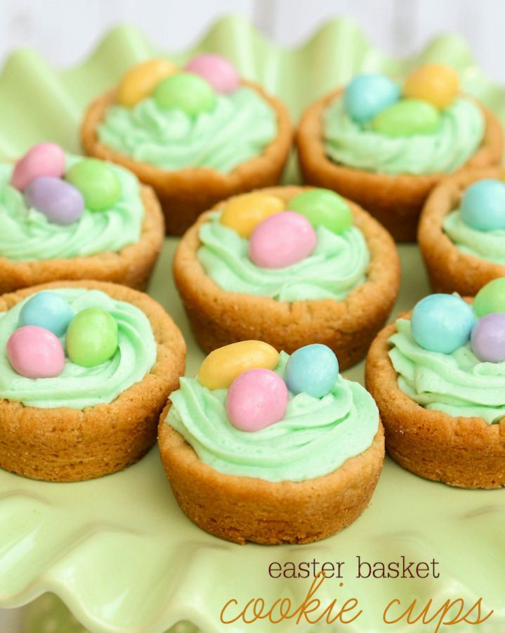 These are the cutest Easter basket cookies! Fun Easter treat for your Easter party.