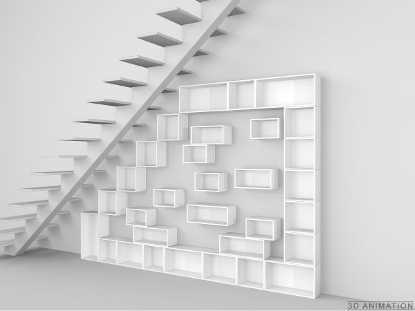 Stylish Shelf For Slanting Roofs And Stairs / Stylisches Regal Für  Dachschrägen Und Treppen