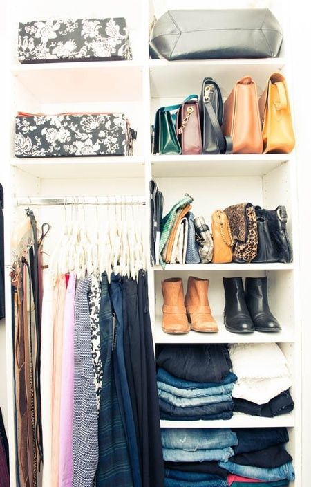 How To Store And Organise Your Handbags In Your Wardrobe   Wardrobe  Decluttering   Fashion Organisation